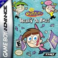 Fairly OddParents: Breakin' Da Rules - Game Boy Advance GBA Game