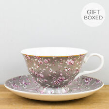 3d37cb10334 Creative Tops Katie Alice Ditsy Floral Fine Bone China Cup and Saucer Grey