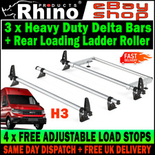 (L4-LONG H3-HIGH) 3x MAN TGE Roof Bars AND Roller Rhino (NO T-TRACK) 2017-2019