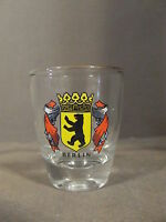SMALL VINTAGE BERLIN BEAR COAT OF ARMS SHOT GLASS