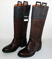 Pepe Jeans - mooie hoge bruin leren laarzen - maten 36/37/38/39/40