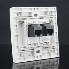2 Ports Double RJ45 Cat6 Network LAN Outlet Wall Socket Plate Panel Faceplate