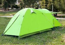 3 Persons Waterproof Double layers Camping Hiking Light Dome Tent w/ Porch