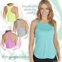 Ladies Sports Vest Tank Top Stretch Cool Dry Wicking Fitness Yoga Gym Size S-L