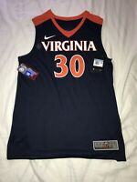 New Nike Men's Virginia Cavaliers UVA Elite Basketball Jersey Medium $75 #30