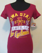 CLEARANCE NEW Juniors Various Sizes Iowa State Cyclones Maroon Tee Shirt Top