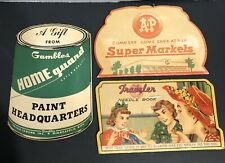 Lot of 3 Vintage Advertising Needle Book's Gambles Paint A&P Market Traveler