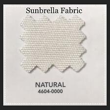 "Sunbrella Fabric 60"" Wide Natural #4604 10 Yards"