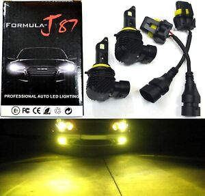 LED Kit M10 100W 9005 HB3 3000K Yellow Two Bulb Head Light High Beam Replacement
