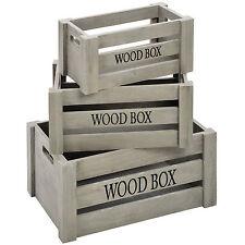 Industrial Vintage Wooden Crates