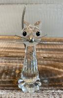 "Vintage Swarovski Cat Figurine No. 010023 Retired 3"" Tall"