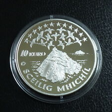 Ireland 10 euros 2008 Sckellig Michael PROOF silver 92.5% (28.3 g)+Box+CoA