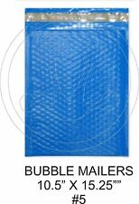(10) Large Bluecolored Decorative Bubble Mailers 10.5 X 15 Size #5