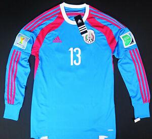Mexico 2014 World Cup Adidas adizero goalkeeper jersey #13 GUILLERMO OCHOA rare
