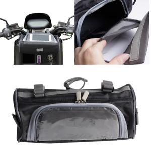 Waterproof Moped Scooter Handlebar Bag Fork Storage Shoulder Pack w/ Phone Case