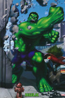 LOT OF 2 POSTERS: CARTOON:  THE HULK  - PUNCHING - FREE SHIP    #2714  RP67 i