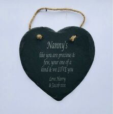 Slate Heart Decorative Plaques Signs Quotes Sayings Ebay