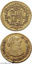 SPAIN COLONIAL GOLD COIN 1/2 ESCUDO CHARLES III MADRID MINT 1783 AD