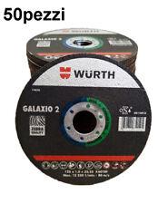 SET 50 DISCHI TAGLIO WURTH 125X1 FERRO ACCIAIO INOX OFFERTA STOCK FALLIMENTO