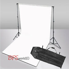 Photo Studio 2.8x1.8m White Muslin Cotton Backdrop Background 2.8x3m Stand Kit
