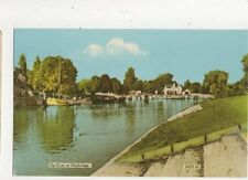 The River At Weybridge Old Postcard 637a