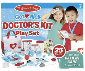 NEW Melissa & Doug Get Well Doctor's Kit Play Set Original 25 Pieces Toy Nurse