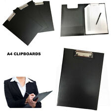 A4 Clipboard Clip Board Foldover File Folder Writing Pad Fold Office Holder Hard