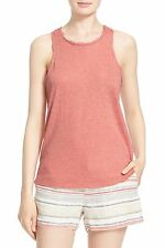 NWT- Joie 'Nykel' Racerback Cotton Blend Tank Top, Burnt Coral - Size Medium