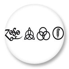 "Pin Button Badge Ø25mm 1"" Led Zeppelin Led Zep Hard Rock Heavy Metal Jimmy Page"