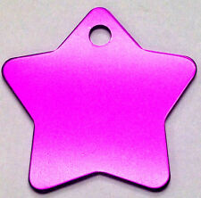 100 Star Pet identification tags Anodized Aluminum Blank Bulk ID Wholesale LASER