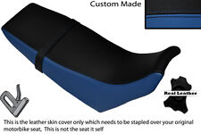 BLACK & ROYAL BLUE CUSTOM FITS YAMAHA DT 125 RE 04-07 DUAL LEATHER SEAT COVER