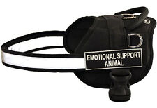 Dean & Tyler DT Works Nylon Dog Harness with Patches for Working / Service Dogs