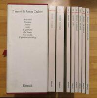 IL TEATRO di Anton Čechov cofanetto 8 volumi edizioni Einaudi