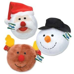 Holiday Dog Toys Snowball Gang Christmas - Choose Snowman Santa or Reindeer Ball
