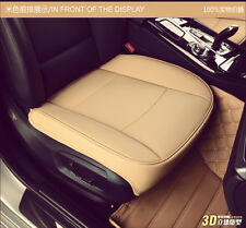 PU Leather Luxury Car Cover Seat Protector For BMW Toyota VW Cushion Beige