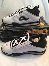 Adio Arena White Black Leather Kids Childrens Boys Skate Shoes UK Size 4 BNIB