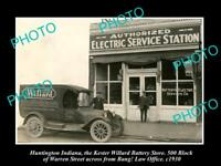 OLD LARGE HISTORIC PHOTO OF HUNTINGTON INDIANA WILLARD ELECTRIC STATION c1920