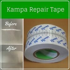 Kampa Repair Tape Patch Kit for Gazebo Tent Canopy Awning Marquee Fabric Clear