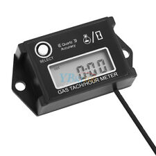 Digital Tachometer RPM Tach Hour Meter Gauge For Motorcycle ATV Boat Engine SR