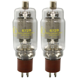 572B Penta Laboratories Power Triode Matched Pair (2) Tubes
