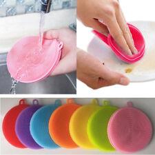 7 Stk Silikon Schwamm Scrubber Küche Werkzeug Schale Waschen Reinigung Pinsel