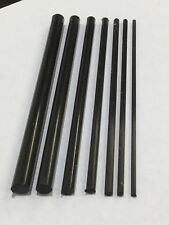 Pultruded Carbon Fiber Round Rod Knife Pin Stock SELECT A SIZE 6