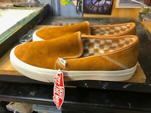 Vans Slip On SF Suede Pumpkin Spice Antique White Fleece Size US 10 Men's New
