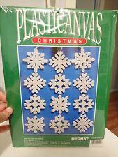 Bernat Plasticanvas Winter Snowflakes Ornaments Cross Stitch