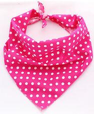 Pink Polka Dotty Puppy Grooming Dog Bandana/Collar 100% Cotton Handmade