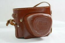 VINTAGE IHAGEE EXA CAMERA BROWN LEATHER CAMERA CASE WITH HAND STRAP