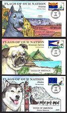 "$US FDC SC#4273-4277 ""Flags of our Nation"", ""Dogs of America"" part set, Collins"