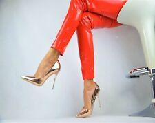 NEU Designer Super Sexy Luxus METALLIC Damenschuhe Elegant Pumps High Heels