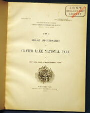 Usgs Crater Lake, Oregon Rare 1903 First Full Report On Geology A Classic!