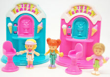 Vintage Polly Pocket Ice Cream Fun complete set Bluebird Toys w dolls
